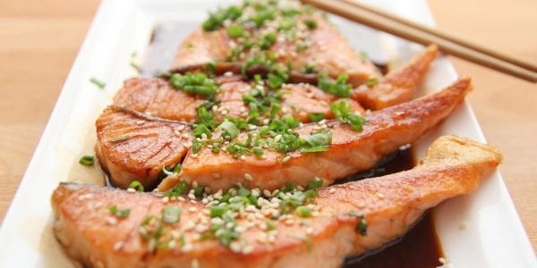 Salmon Teriyaki Entree