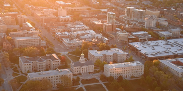 Iowa City aerial view