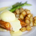 Salmon, potato, and asparagus