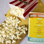 Popcorn with Iowa Carnival sign