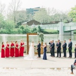 Wedding ceremony by river